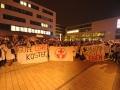 Ende der Demonstration am Rathaus